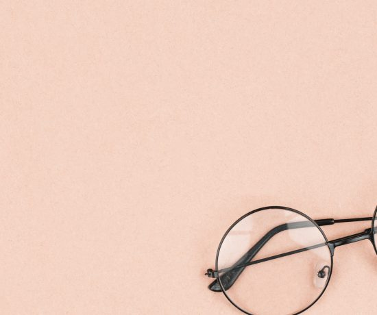 Glasses with a pink background
